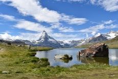 Swiss Matterhorn on a sunny day