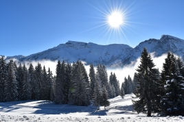 French alps covered by snow