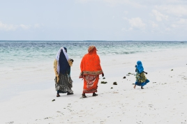 Tanzanians playing on the beach