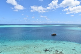 Once in a lifetime view from secret beach in Polynesia